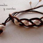 pulseras de cuero con nudos
