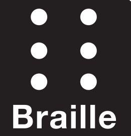 Menús para restaurantes  en sistema Braille - servicios para invidentes
